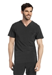 Landau - Men's Media V-neck Scrub Top. 4142