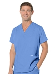 Landau - Men's 5 Pocket V-Neck Scrub Top. 7489