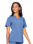 Smitten - Women's Scrub Set with V-neck Top and Sleek Cargo Pant. L-SCRUBSET1002