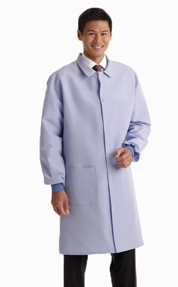 Medline - Men's Ceil Blue Resistat® Protective Lab Coat. MDT046811