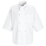 Red Kap - Men's 1/2-Sleeve Chef Coat. 0404WH