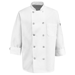 Red Kap - Men's Ten Pearl Button Chef Coat. 0415WH