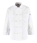 Red Kap - Men's Ten Knot-Button Chef Coat. 0421WH