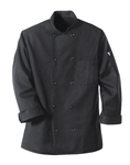 Red Kap - Men's Ten-Button Black Chef Coat. 0425BK