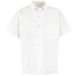 Red Kap - Men's White Short-Sleeve cook Shirt. 5050WH