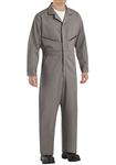 Red Kap - Men's Zip-Front Grey Cotton Coverall. CC18GY