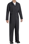 Red Kap - Men's Twill Action-Back Black Coverall. CT10BK