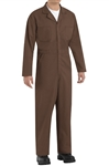Red Kap - Men's Twill Action-Back Brown Coverall. CT10BN