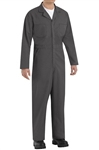 Red Kap - Men's Twill Action-Back Charcoal Coverall. CT10CH