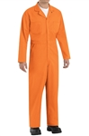 Red Kap - Men's Twill Action-Back Orange Coverall. CT10OR
