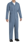 Red Kap - Men's Twill Action-Back Postman Blue Coverall. CT10PB