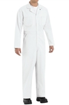 Red Kap - Men'sTwill Action-Back White Coverall. CT10WH