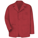 Red Kap - Men's Three Button Label Counter Coat. KP10RD