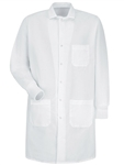 Red Kap - Unisex Specialized Cuffed Lab Coat Exterior Chest Pocket. KP70WH