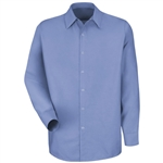 Red Kap - Men's Lt Blue Long-Sleeve Specialized No Pocket Shirt. SP16LB