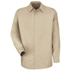 Red Kap - Men's Lt Tan Long-Sleeve Specialized No Pocket Shirt. SP16LT