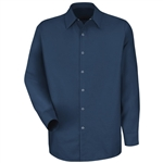 Red Kap - Men's Navy Long-Sleeve Specialized No Pocket Shirt. SP16NV