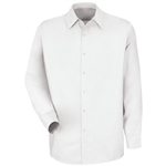 Red Kap - Men's White Long-Sleeve Specialized No Pocket Shirt. SP16WH