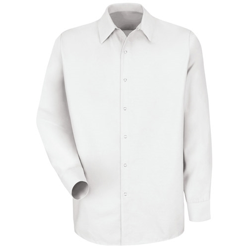Red Kap Mens White Long Sleeve Specialized No Pocket Shirt Sp16wh