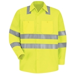Red Kap - Long-Sleeve Hi-Visibility Work Shirt Class 3 Level 2. SS14AB