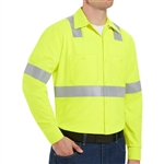 Red Kap - Long-Sleeve Hi-Visibility Work Shirt Class 2 Level 2. SS14HV