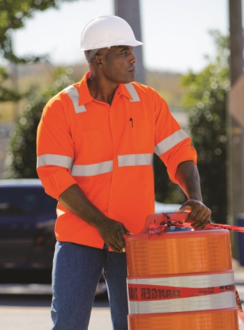 Red Kap - Long-Sleeve Hi-Visibility Work Shirt Class 2 Level 2. SS14O2