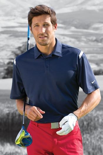 696e7d84 Nike Golf - Dri-FIT Shoulder Stripe Polo. 402394