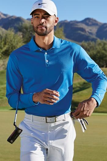 fb71dfe0 Nike Golf - Long Sleeve Dri-FIT Stretch Tech Polo. 466364. Larger Photo ...