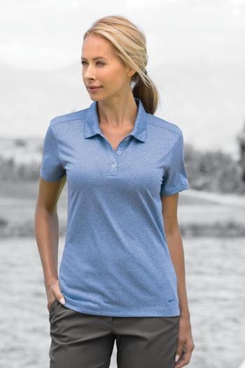 6275727f Nike Golf - Ladies Dri-FIT Heather Polo. 474455. Larger Photo ...