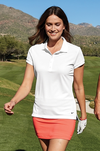 Nike - Ladies Dri-FIT Solid Icon Pique Modern Fit Polo. 746100