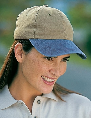 3839a9ad0a2 Port   Company -Two-Tone Pigment-Dyed Cap. CP83