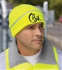 CornerStone - Safety Beanie with Reflective Stripe. CS800