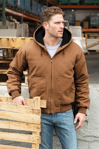 CornerStone - Washed Duck Cloth Insulated Hooded Work Jacket. CSJ41