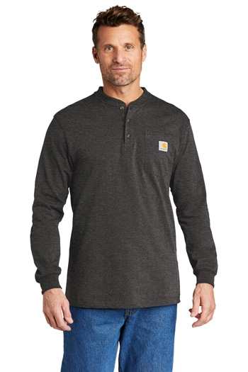 Carhartt - Long Sleeve Henley T-Shirt. CTK128