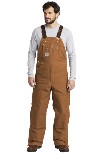 Carhartt - Men's Duck Quilt-Lined Zip-To-Thigh Bib Overalls. CTR41