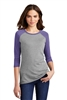 District - Ladies Pefect Tri 3/4-Sleeve Raglan DM136L