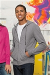 District - Young Mens Lightweight Jersey Full-Zip Hoodie. DT1100