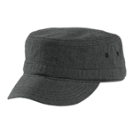 District - Houndstooth Military Hat. DT619