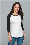 District - Women's Fitted Very Important Tee ® 3/4-Sleeve Raglan. DT6211