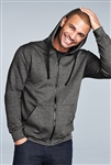 District -  Young Mens The Concert Fleece Full-Zip Hoodie. DT800