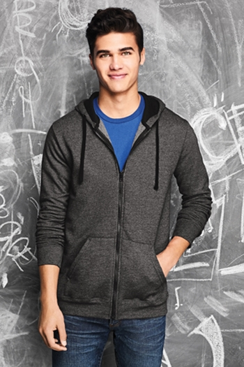 c67a76541 District - Young Mens The Concert Fleece Full-Zip Hoodie. DT800 Larger  Photo Email A Friend