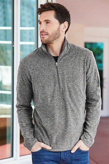 Port Authority - Heather Microfleece 1/2-Zip Jacket. F234