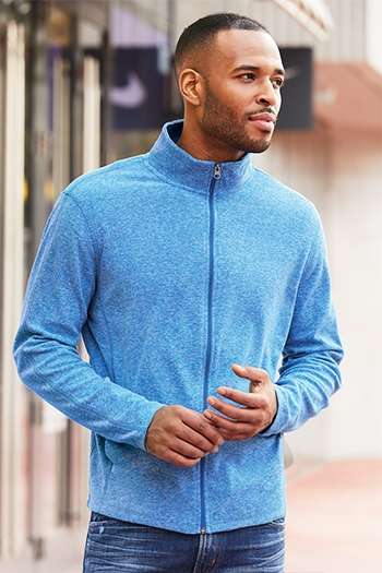 Port Authority - Heather Microfleece Full-Zip Jacket. F235