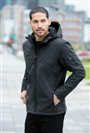 Port Authority - Textured Hooded Soft Shell Jacket. J706