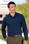 ​Port Authority - Long Sleeve Silk Touch Polo with Pocket. K500LSP