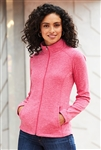 Port Authority - Ladies Heather Microfleece Full-Zip Jacket. L235