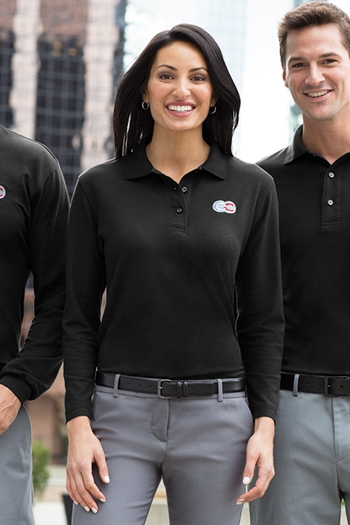 dce00494 Port Authority - Ladies Long Sleeve Silk Touch Polo. L500LS Larger Photo  Email A Friend