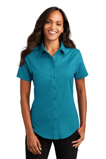 S508 Clover Green Port Authority Short Sleeve Easy Care Shirt
