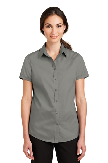 "Port Authority - Ladies Short-sleeve SuperProâ""¢ Twill Shirt. L664"