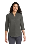 "Port Authority - Ladies 3/4 SuperProâ""¢ Twill Shirt. L665"